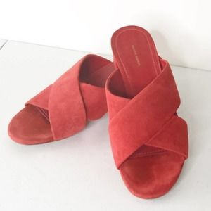 Mansur Gavriel Chunky Heel Slip On Sandal 38 |8